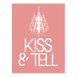 kiss & tell postcard