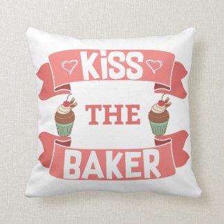 Kiss the Baker Throw Pillow