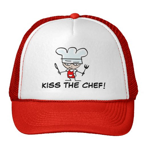 Kiss the chef bbq hat