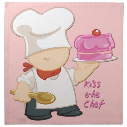 Kiss the Chef Cloth Napkins (set of 4)