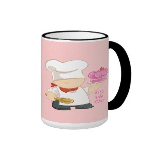 Kiss the Chef Coffee Mugs
