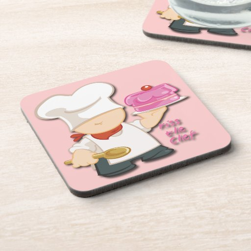 Kiss the Chef Drink Coaster Set (6)