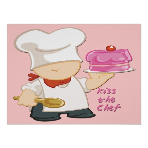 """Kiss the Chef Poster/Print 24""""x18"""""""