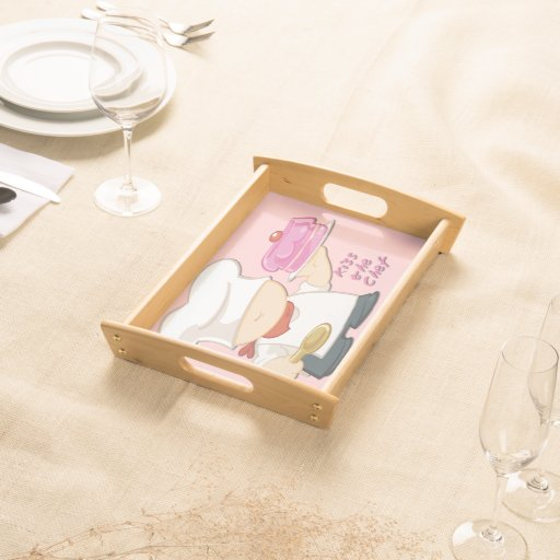 Kiss the Chef Small Serving Tray