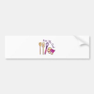 Kiss The Cook Bumper Sticker