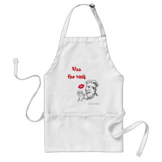 Kiss the cook. Chef father dad's Standard Apron