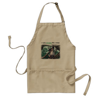 Kiss the Cook with a twist ~ funny bonobo apron
