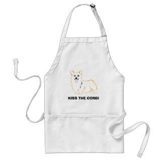 Kiss the corgi apron