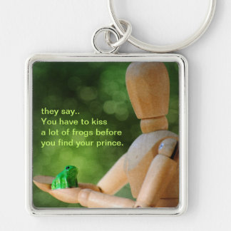 kiss the frog keychain