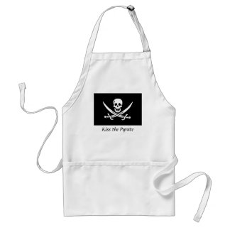 Kiss the Pyrate Apron- Calico Jack Standard Apron