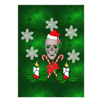 Kiss The Santa Skull Personalized Invites