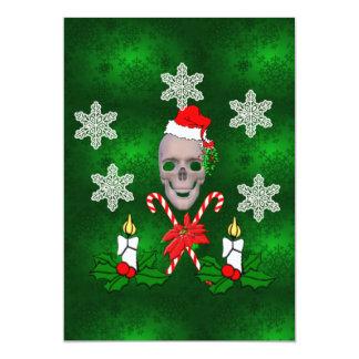 Kiss The Santa Skull 5x7 Paper Invitation Card