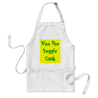 Kiss The Veggie Cook Standard Apron