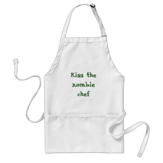 Kiss the zombie chef standard apron