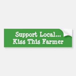 Kiss This Farmer Bumper Sticker