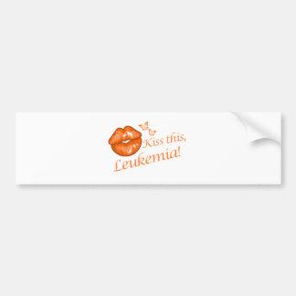 Kiss This Orange Bumper Sticker