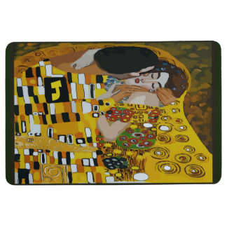 Kiss, Vintage Tile Look add your initial Floor Mat