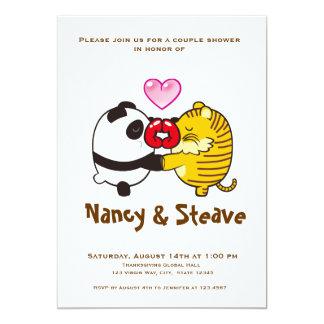 kiss zoo 13 cm x 18 cm invitation card