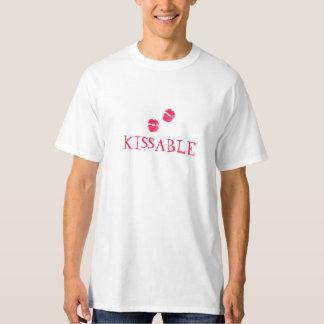 Kissable Lips Red Lipstick Kisses Valentine's Day T-Shirt