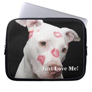 Kissable Pit bull Laptop Sleeve