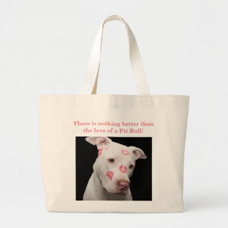 Kissable Pit Bull Large Tote Bag