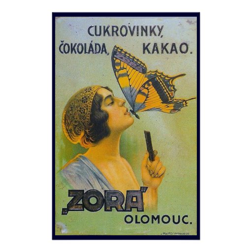Kissed By A Butterfly Vintage Chocolate Ad Posters