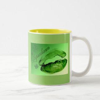 Kissed By A Leprechaun Two-Tone Coffee Mug