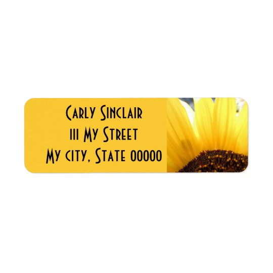 Kissed By The Sun Return Address Label