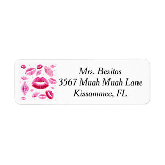 Kisses All Over (White) Return Address Label