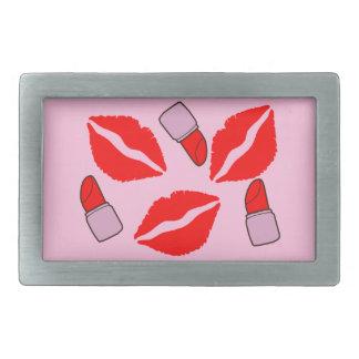 kisses and lipsticks belt buckles