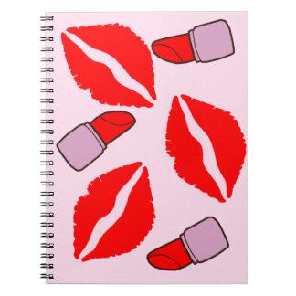 kisses and lipsticks notebooks