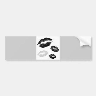 kisses-blackwhitegrey bumper stickers