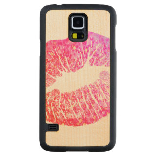 Kisses Carved Maple Galaxy S5 Case