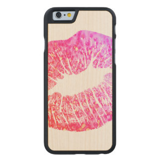 Kisses Carved Maple iPhone 6 Case
