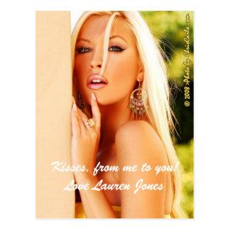 Kisses, from me to you! Love Lauren Jones Postcard