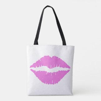 Kisses Lipstick Lips Tote Bag