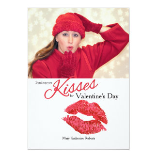 Kisses Photo Card 13 Cm X 18 Cm Invitation Card