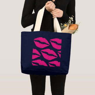 Kisses to you! large tote bag