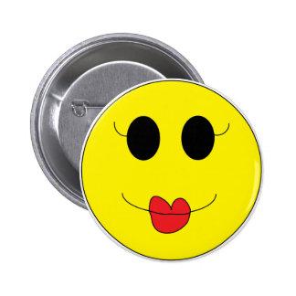 Kissie Smilie Button