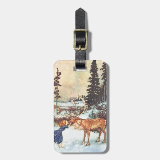 Kissing a Reindeer Luggage Tags