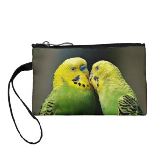 Kissing Budgie Coin Purse
