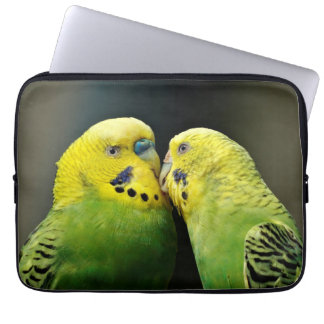 Kissing Budgie Parrot Bird Laptop Sleeve