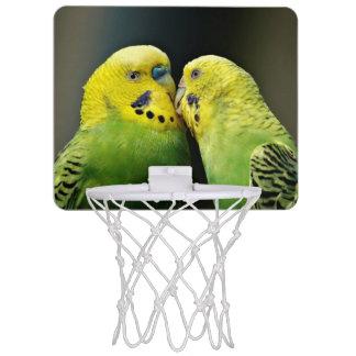Kissing Budgie Parrot Bird Mini Basketball Hoop
