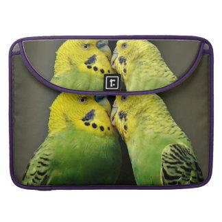 Kissing Budgie Parrot Bird Sleeve For MacBooks