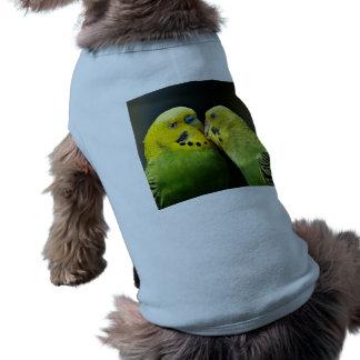 Kissing Budgie Parrot Sleeveless Dog Shirt