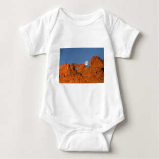 Kissing Camels Rock Formation with Full Moon Baby Bodysuit