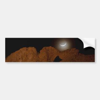 Kissing Camels Under Crescent Moon 01 Bumper Stickers