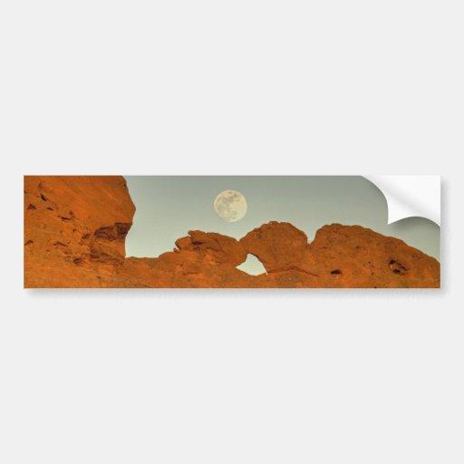 Kissing Camels Under Moon 01 Bumper Sticker