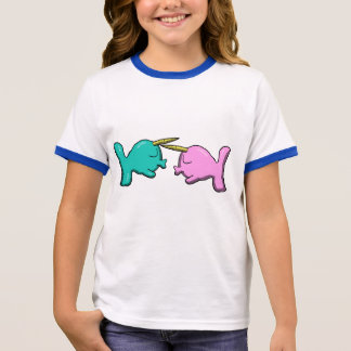 Kissing Chibi Narwhals shirt