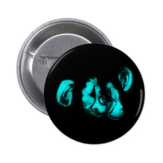 kissing chimps neon turquoise pins